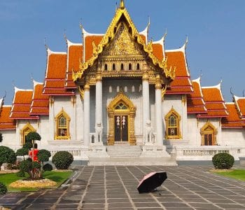 Wat Benchamabophit: the marble temple near the Dusit Palace